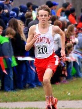 Canton's Zac Clark runs during a 2015 cross country meet.