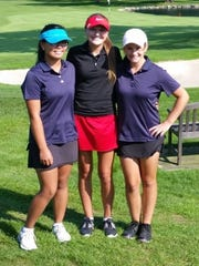 Pictured (from left) are Sofia Cueva (Franklin), Paige Peterson (Churchill) and Sophia Wygonik (Franklin).