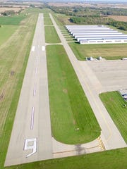 The existing runway at Bult Field in Peotone, Ill., which has been proposed as the site of South Suburban Airport.