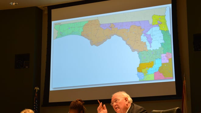 State Sen. Bill Montford, D-Tallahassee, offered a revised congressional district map for North Florida on Monday but withdrew it during committee debate, when it became clear there was not much support for it.