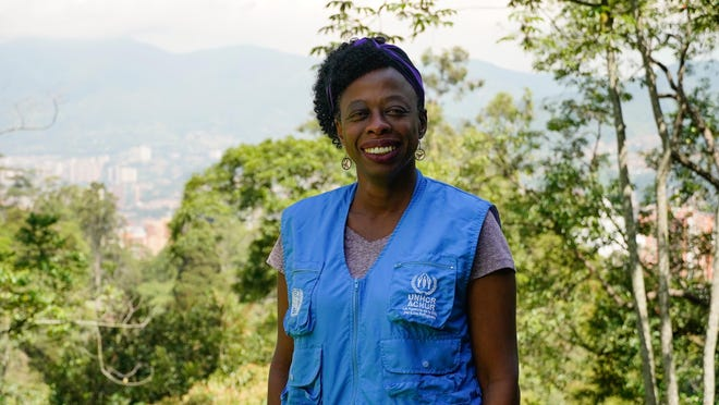 Besem Obenson, 52, was born in Columbus and now does humanitarian work with the United Nations High Commissioner for Refugees in Colombia.