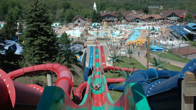 Camelbeach Mountain Waterpark in Tannersville, Pennsylvania, is the state's largest outdoor waterpark. The Mountain Waterpark as well as Camelback's Aquatopia Indoor resort are open at 50% capacity during Pennsylvania's Green reopening phase.