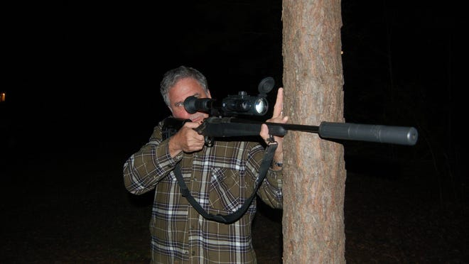 There's lots to do in the outdoors  during the summer months. Jeff Rice is pictured here hunting wild hogs during the cool of the evening.