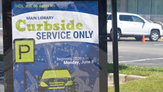 Herrick District Library's curbside service has been popular with patrons. The library has served nearly 300 patrons since the service began Monday, June 8.