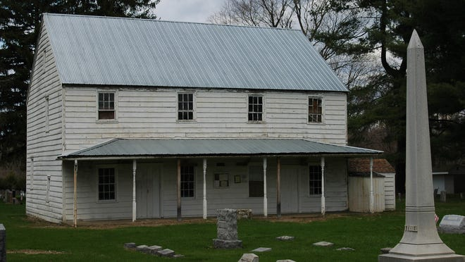 The Crum Elbow Meeting House and Cemetery sits on two acres on the east side of North Quaker Lane in the Town of Hyde Park.