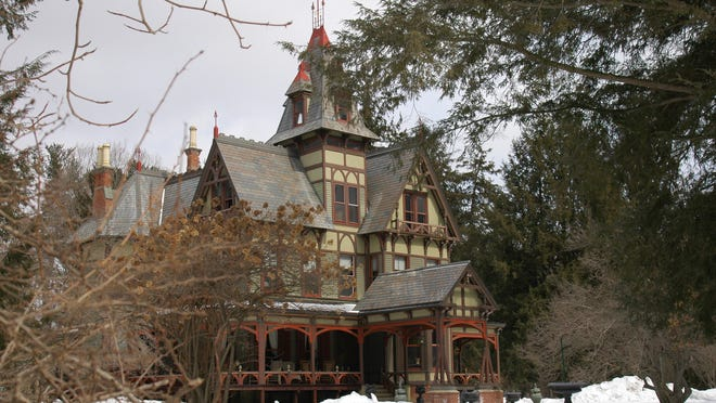 Named The Pines, this 36-room structure embodies many of the characteristics that were popularized during the late 19th century by architect Andrew Jackson Downing.