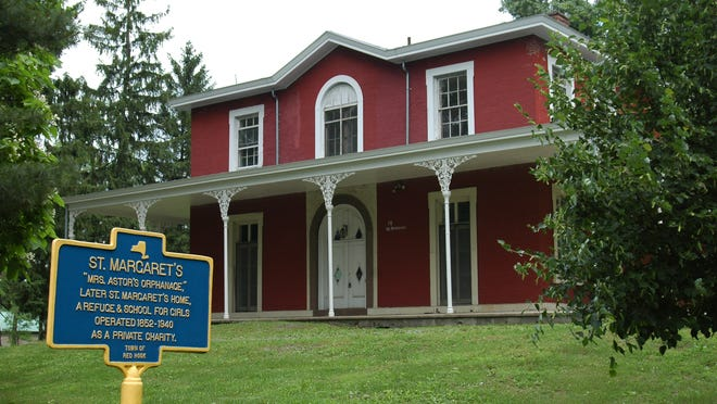 This wood-frame structure was built in the mid-19th century to serve as a privately financed welfare operation. It is on Route 9 just south of the Village of Red Hook.