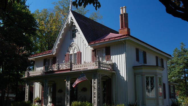 The Delamater Inn's main house was built in 1844 as the home of Henry Delamater, founding president of the First National Bank of Rhinebeck.