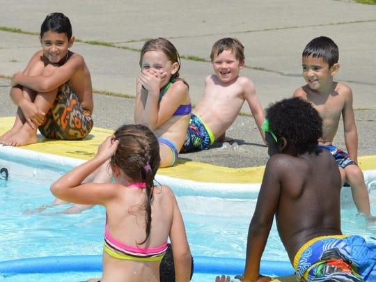 Kids at Camp Splash having fun in Winooski.