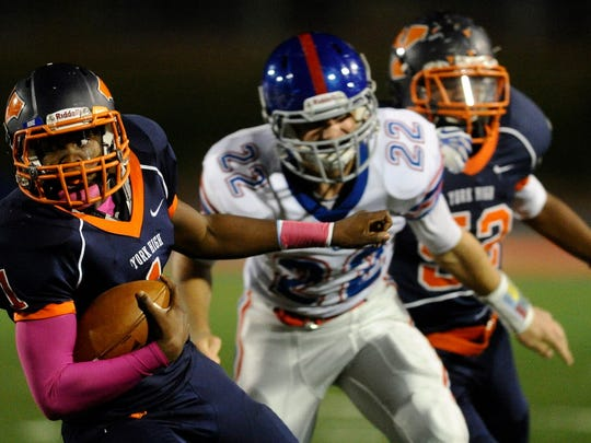 William Penn quarterback James Way (1) engineered a 23-point fourth-quarter rally last year when the Bearcats beat Spring Grove, 49-35. (GAMETIMEPA.COM -- FILE)