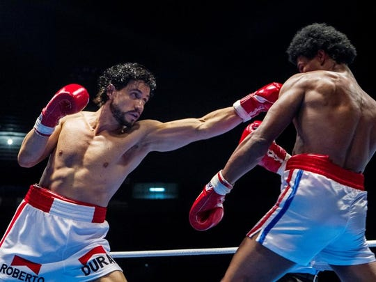"Edgar Ramírez and Usher Raymond star in ""Hands of Stone"""