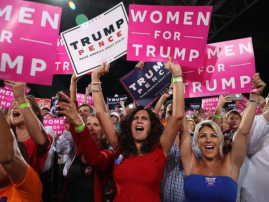 GOP Presidential Candidate Donald Trump Holds Campaign Rally In Tampa, Florida