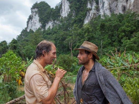 "Matthew McConaughey and Edgar Ramirez star in ""Gold."""