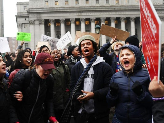 Students In New York Organize Walkout To Protest Against President Trump's Policies