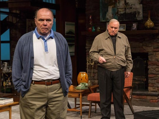 """Craig Spidle plays Matthew Drayton, the father of the bride-to-be, and Mark Goetzinger plays Monsignor Ryan in """"Guess Who's Coming to Dinner?"""""""
