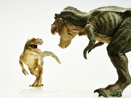 T. Rex Planet two dinos art