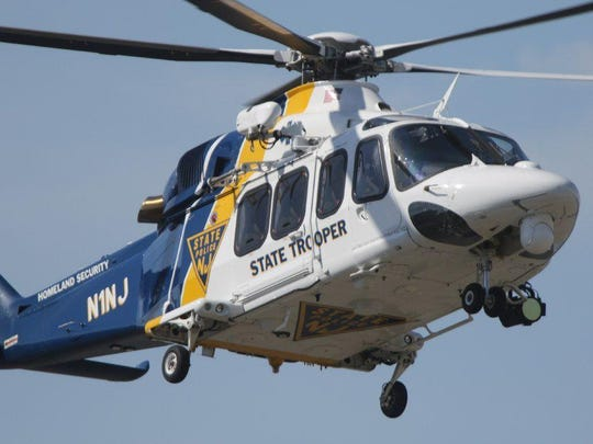 New Jersey State Police helicopter file photo.