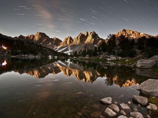 Night sky at Kings Canyon National Park