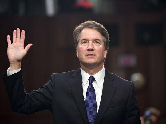 Supreme Court nominee Brett Kavanaugh is sworn in for his confirmation hearings, Sept. 4. Saul Loeb/AFP/Getty Images Supreme Court nominee Brett Kavanaugh is sworn in for his confirmation hearings, Sept. 4, 2018, Washington, D.C.