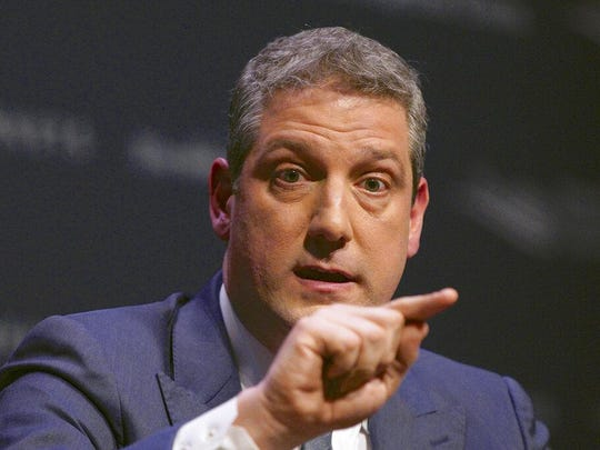 Rep. Tim Ryan, D-Ohio, speaks on the campus of Buena Vista University in Storm Lake, Iowa, in this Saturday, March 30, 2019 file photo. Ryan says he's running for president.