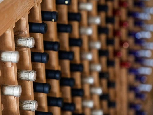 Wine bottles Tonne Winery March 2015.jpg