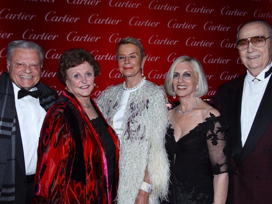 The five Awards Gala underwriters are (from left): Harold Matzner, JoAnn McGrath, Donna MacMillan, Helene Galen andJames R. Houston, who collectively donated $500,000.