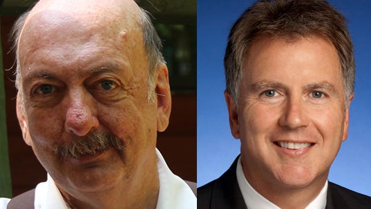 State Sen. Jim Summerville, left, of Dickson, lost in the primary to Kerry Roberts, of Robertson County.