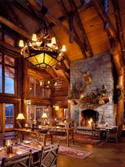 The Kanu dining room at Whiteface Lodge.
