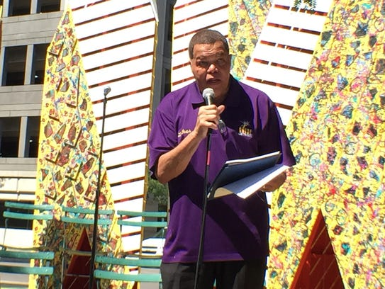 ARISE Detroit! executive director Luther Keith speaks