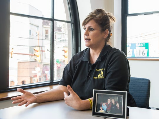 Gina DeMaria, who lost her son Anthony to a heroin overdose in 2014, opened a recovery house for men in Penn Township called The Dominic House.