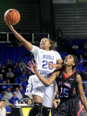 MTSU's Ty Petty (20) is ready to be the go-to leader this season as she enters her final year at MTSU.