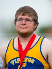 Northern Lebanon's Dakota Leonhard placed second in the boys AAA shot put on Friday with  a throw of 54-4 3/4.