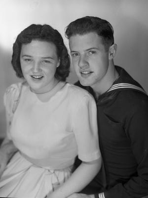 Clarence Rae Joyce and her fiance, Everett Stroup.