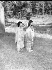 """Pam Cordova recognized a photo as one that appeared in a book written by her mother, historian Evelyn Breuninger. The book, """"The Debut of the Most Honored Maidens,"""" described the Mescalero Apache coming-of-age ceremonies. The two girls pictured are Stella Marden, 14, and Rosarita Smith, 13."""