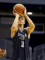 Butler men's basketball freshman Cooper Neese  Monday, July 31, 2017, afternoon at Hinkle Fieldhouse.