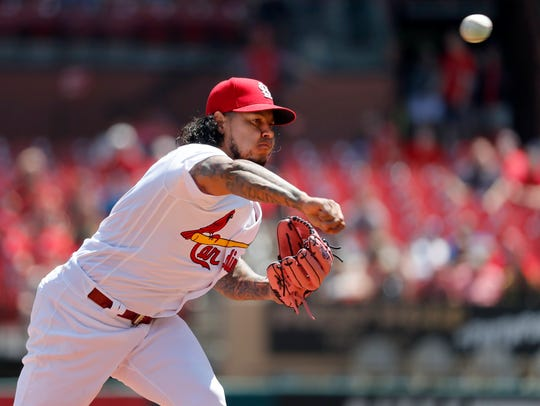 St. Louis Cardinals starting pitcher Carlos Martinez