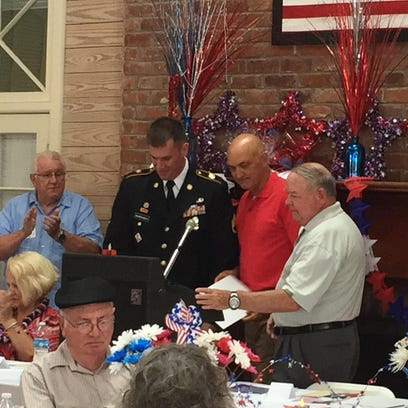 "Retired Brig. Gen. Richard G. ""Dick"" Simmons presents"