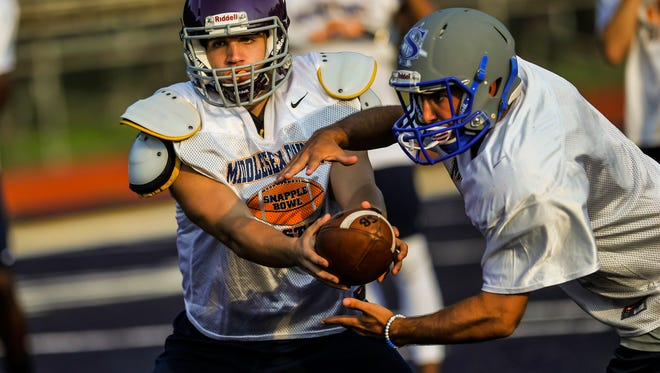 Middlesex County practice for Snapple Bowl XXIV at Colonia High School on July 10, 2017.