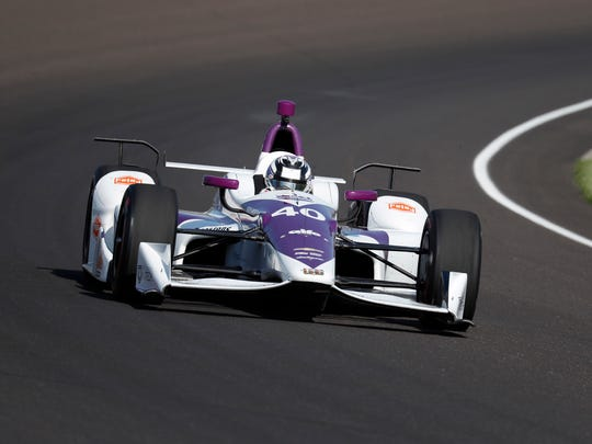 Verizon IndyCar Series driver Zach Veach (40) drives