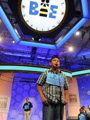 Kelvin Winney at the 2015 Scripps National Spelling Bee in National Harbor, Md. on Wednesday, May 27, 2015.