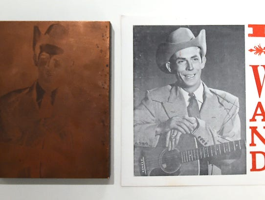 Hank Williams Copper Photo Plate – This plate was used