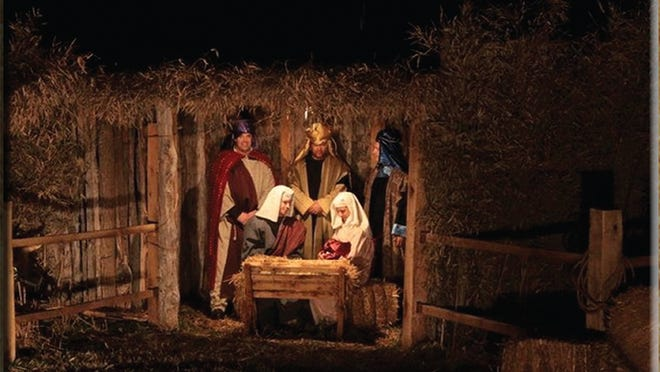 Scene from the Drive Thru Nativity at Grace Church of the Nazarene in 2013