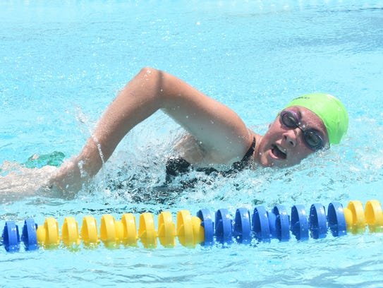 Mountain Home's Katie Finley competes in the 200-meter