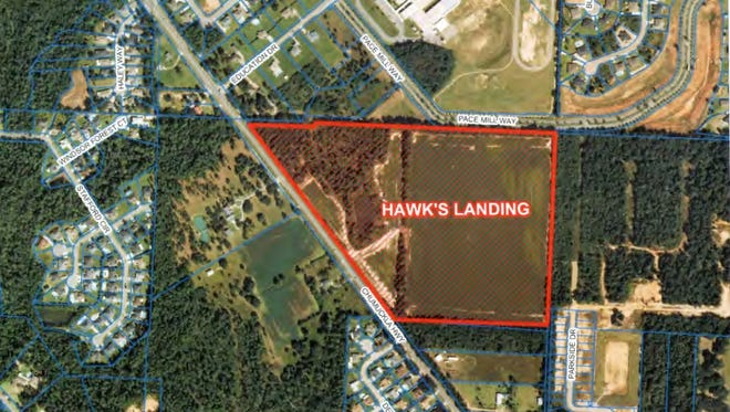 Hawk's Landing, a 177-lot subdivision planned on Chumuckla Highway, is one of several housing developments in the works in Santa Rosa County.