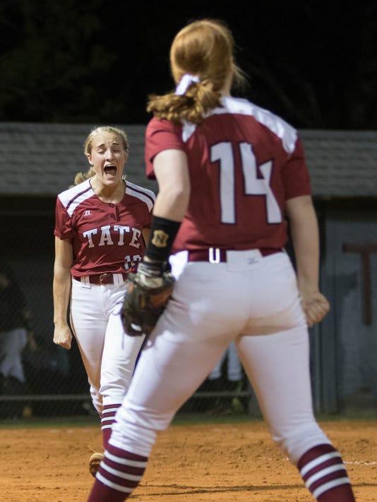 Milton vs Tate softball