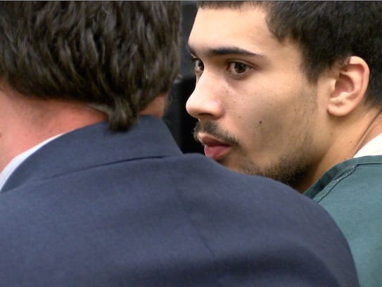 Andreas Erazo is shown in State Superior Court in Freehold