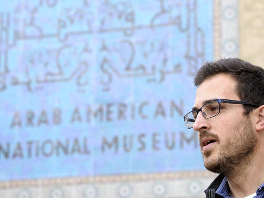 Matthew Jaber Stiffler, of Ann Arbor, is research and content manager of the Arab American National Museum in Dearborn, one of Metro Detroit's high-population Islamic communities. Local Muslims say some politicians need to be more tolerant toward Syrian refugees.