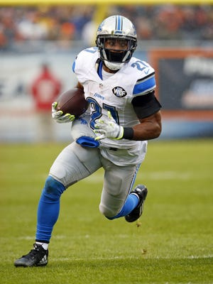 Detroit Lions running back Ameer Abdullah runs the ball against the Chicago Bears on Sunday, Jan. 3, 2016, in Chicago.