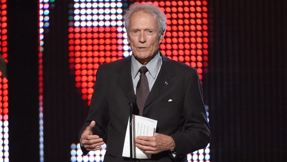 In this June 4, 2016, file photo, Clint Eastwood presents