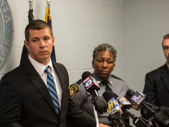 Pennsylvania State Police Trooper Norbert Brennan (left)